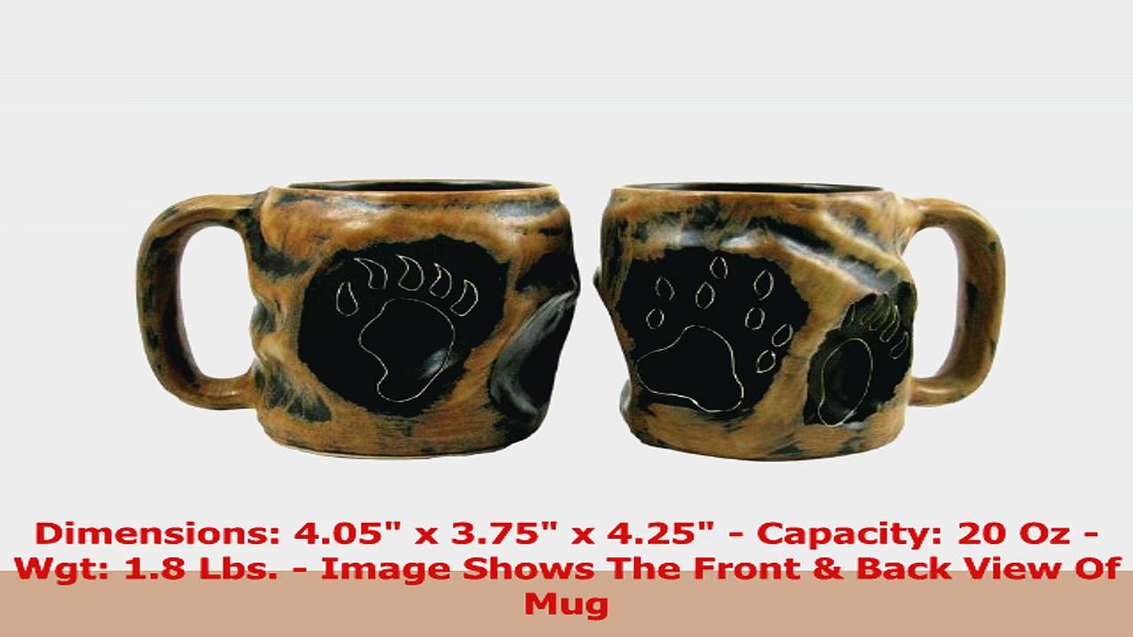 One 1 MARA STONEWARE COLLECTION  20 Oz Rock Art Coffee Cup Collectible Dinner Mug  c7c27d6b