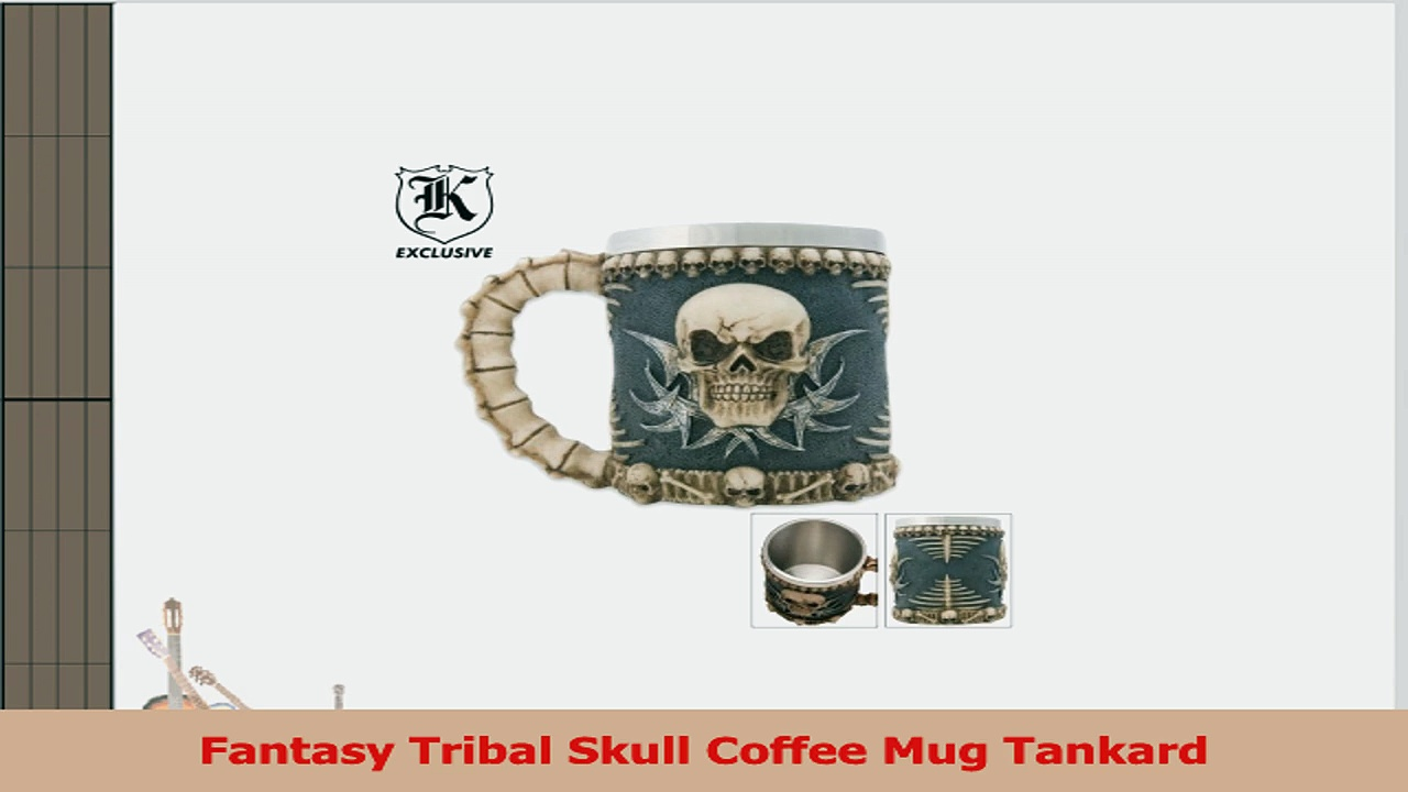 Fantasy Tribal Skull Coffee Mug Tankard 30b11ea8