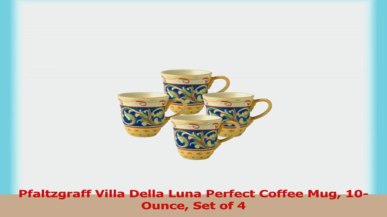 Pfaltzgraff Villa Della Luna Perfect Coffee Mug 10Ounce Set of 4 dfc6ae23