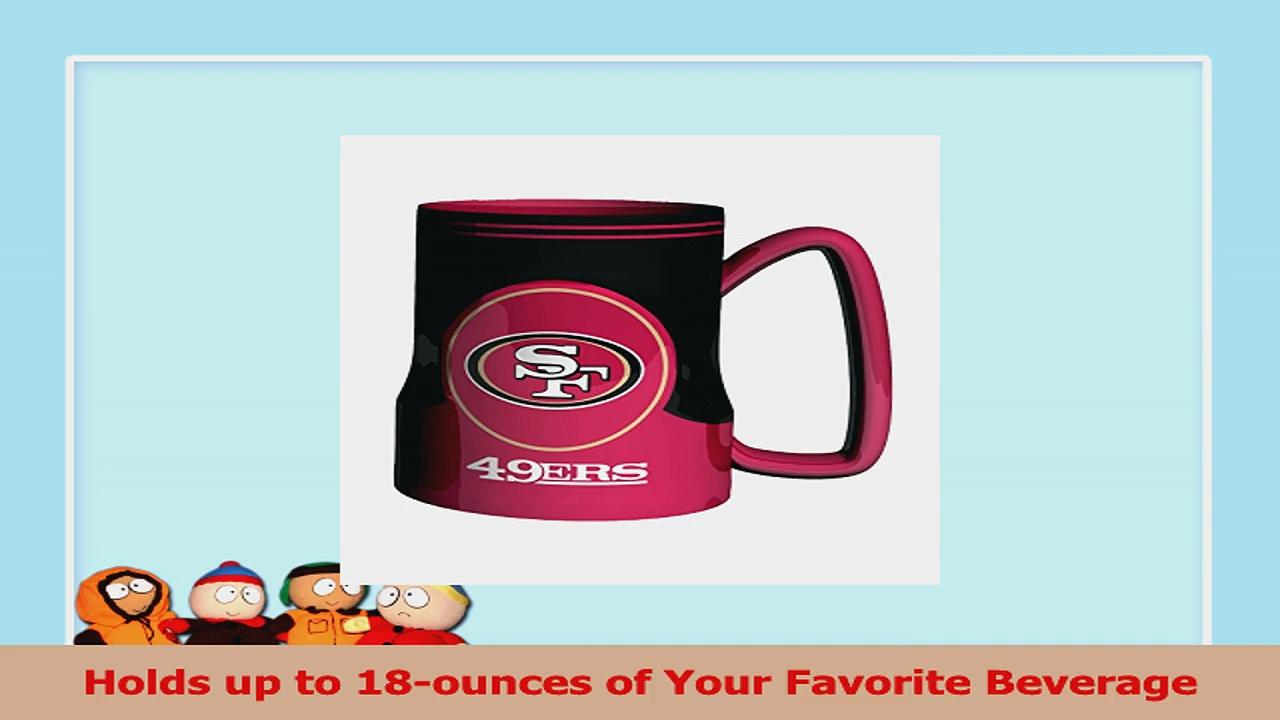 NFL San Francisco 49ers Sculpted Game Time Coffee Mug 18ounce 438fe47e