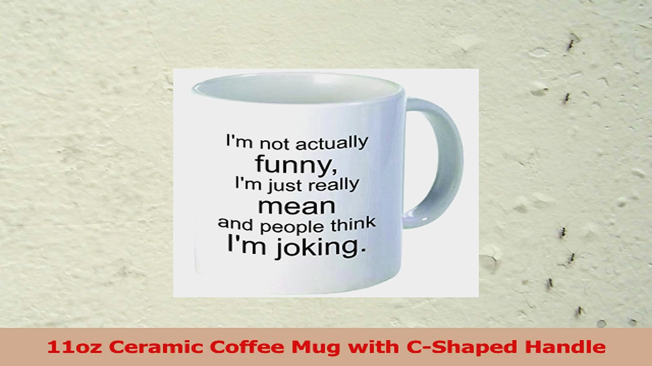 Rikki Knight Im Not Really Funny Ceramic Coffee Mug Cup 11Ounce White 6a5ef92b