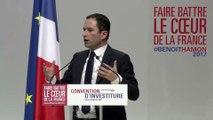 Discours de Benoît Hamon à la convention d'investiture pour l'élection présidentielle