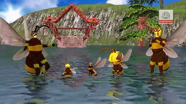 Finger Family For Children Honey Bee Cartoon | Funny Honey Bee Finger Family Nursery Rhymes