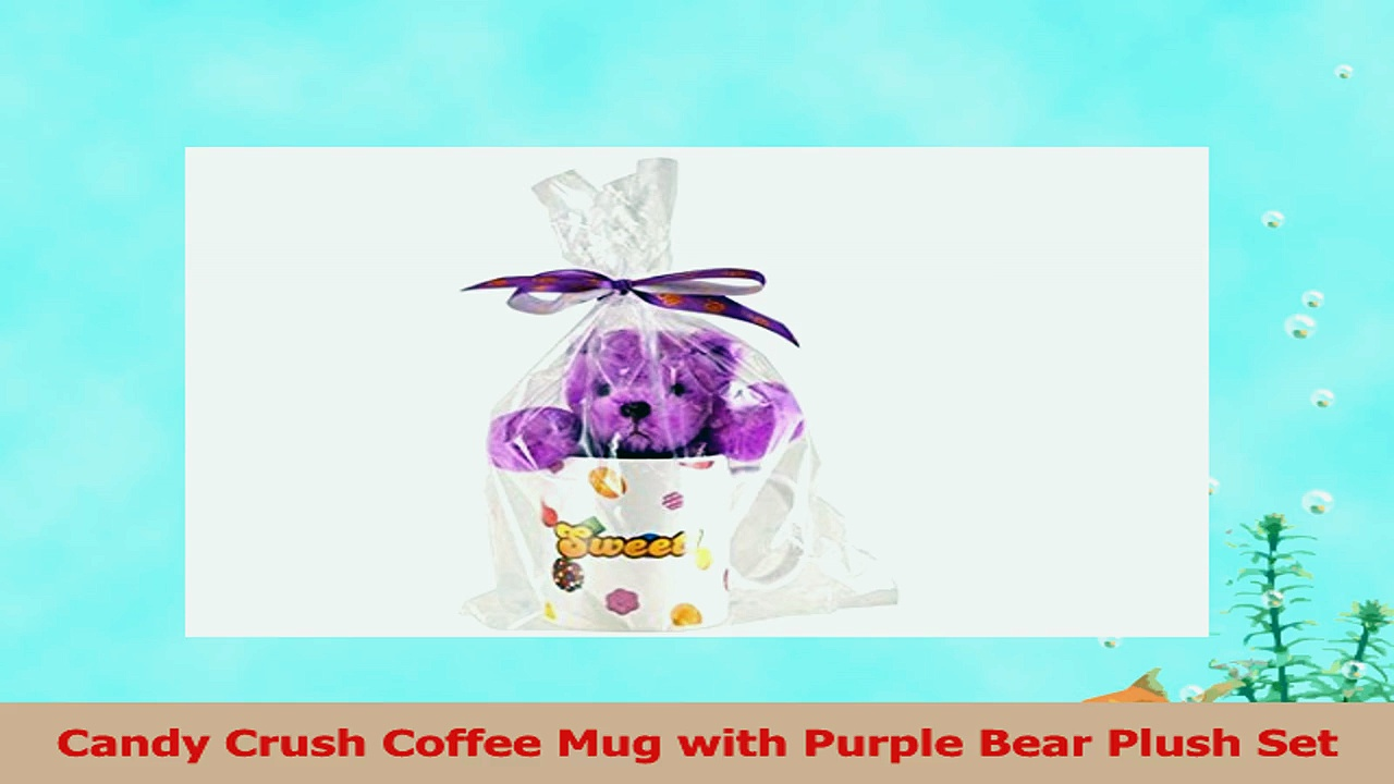 Candy Crush Coffee Mug with Purple Bear Plush Set b308e0f5