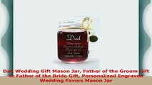 Dad Wedding Gift Mason Jar Father of the Groom Gift or Father of the Bride Gift c4a66078