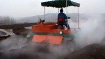 Industrial Composting, Mushroom Compost Turner Machine