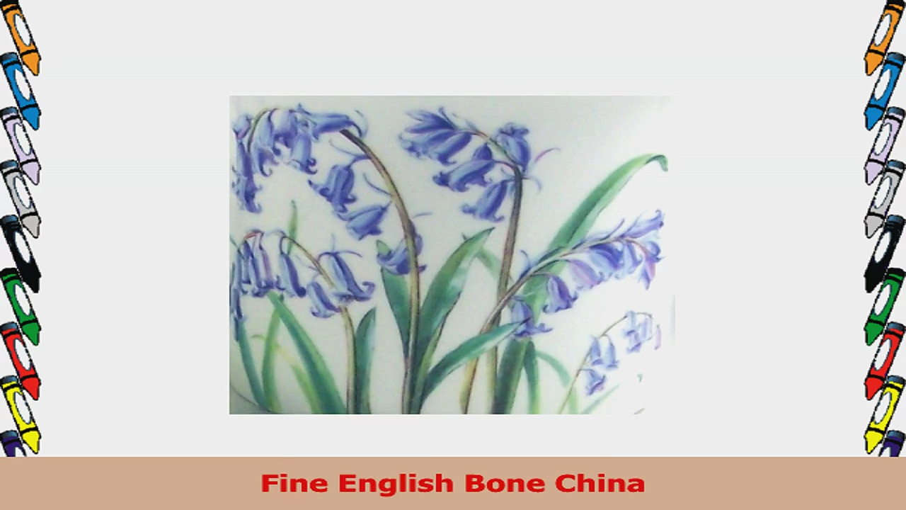 Fine English Bone China Mugs  Bluebell Chintz  12 Ounce  Pair of Two 7bf6eafe