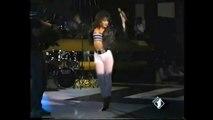 Sabrina Salerno dancing sexy in white pants 2