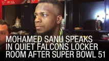 EXCLUSIVE: Mohamed Sanu Speaks In Quiet Falcons Locker Room After Super Bowl 51
