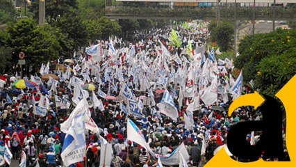 Tuntut Pengusiran Tenaga Asing Ilegal, Buruh Demo di Istana