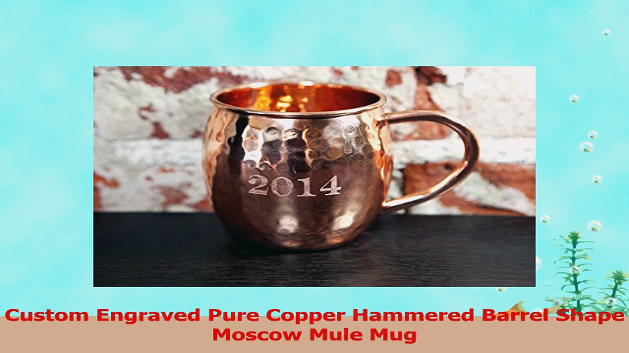 Custom Engraved Pure Copper Hammered Barrel Shape Moscow Mule Mug 560e3d52