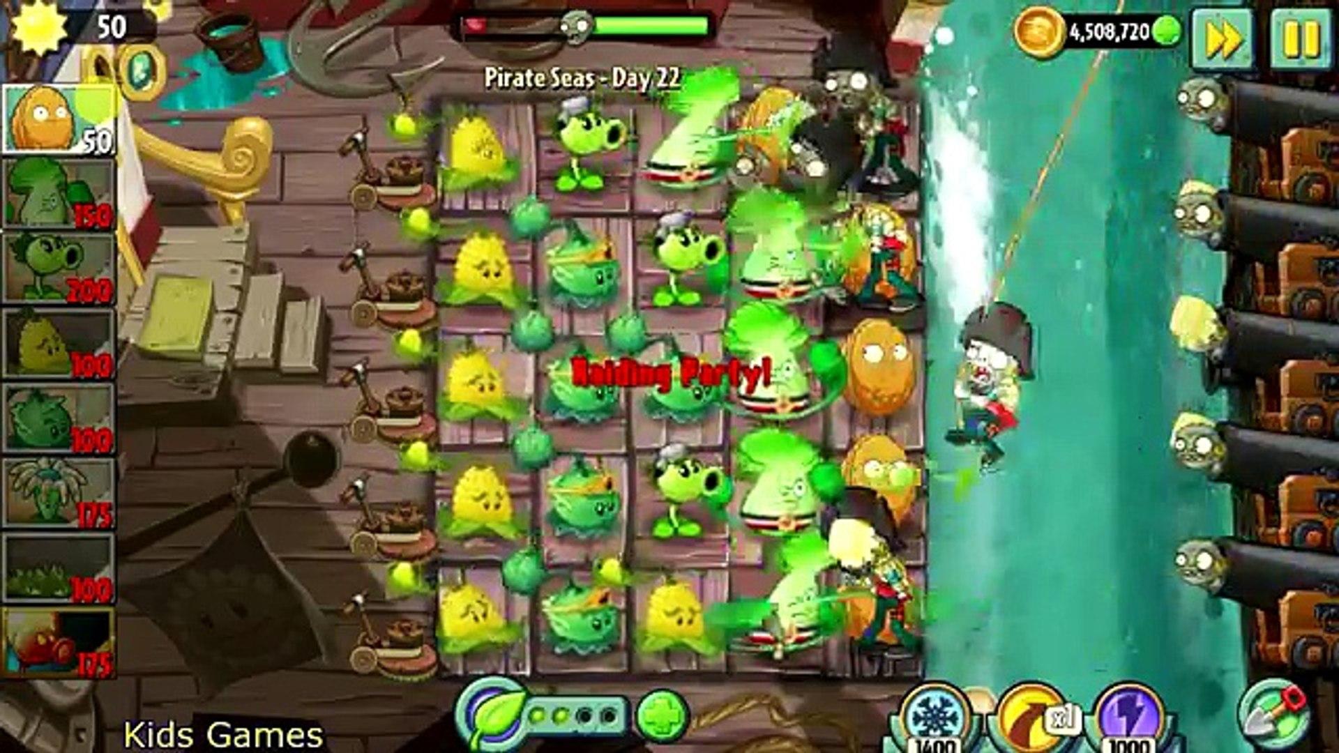 Plants vs. Zombies 2: Its About Time Pirate Seas Gameplay Part 7 Final Boss Zombot Plank Walker