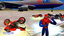 Nursery Rhymes SPIDERMAN & MOTROBIKE Smash Party - Funny Nursery Rhymes Songs for Childrens