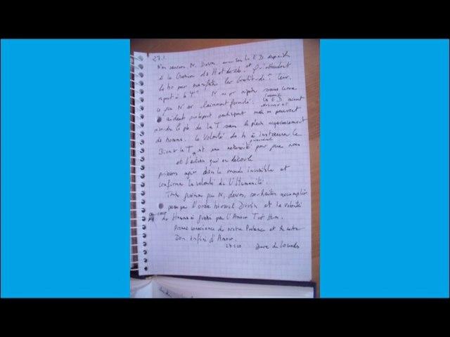 Messages du manuscrit décembre 2009 - audio de SL-Christ - 5.02.2017
