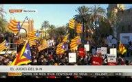 La concentració multitudinària del 6-F al passeig Lluís Companys