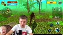 Играем в СИМУЛЯТОР ДИНОЗАВРА охотимся на динозавров развлекательный детский летсплей от канала FFGTV-Yzm5SRK6SAQ