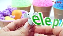 Foam Clay Ice Cream Surprise Toys and Learn Animals, Colors with Eraser Toys Jelly Stickers