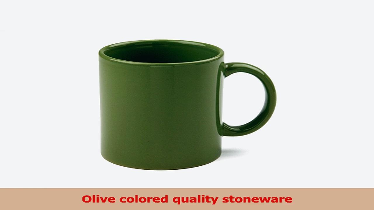 OmniWare Teaz Cafe Olive Stoneware 11 Ounce Classic Coffee Mug Set of 4 dd9e6872