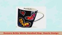 Romero Britto White Handled Mug Hearts Design a5deae5b