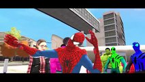 Spiderman Colors Nursery Rhymes & Hulk Colors Mickey Mouse and Superman Lightning McQueen
