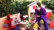 BAD Baby JOKER and Joker DAD pranks Spiderman | Joker Dad turns into Bad Joker Boy Superhero movies