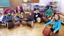 [Ecole en choeur] académie Orléans-Tours école République-Liberté Joué-lès-Tours atelier percussions 2016-17