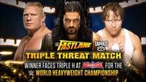 Roman Reigns vs Brock Lesnar vs Dean Ambrose - FastLane 2016 - Official Promo