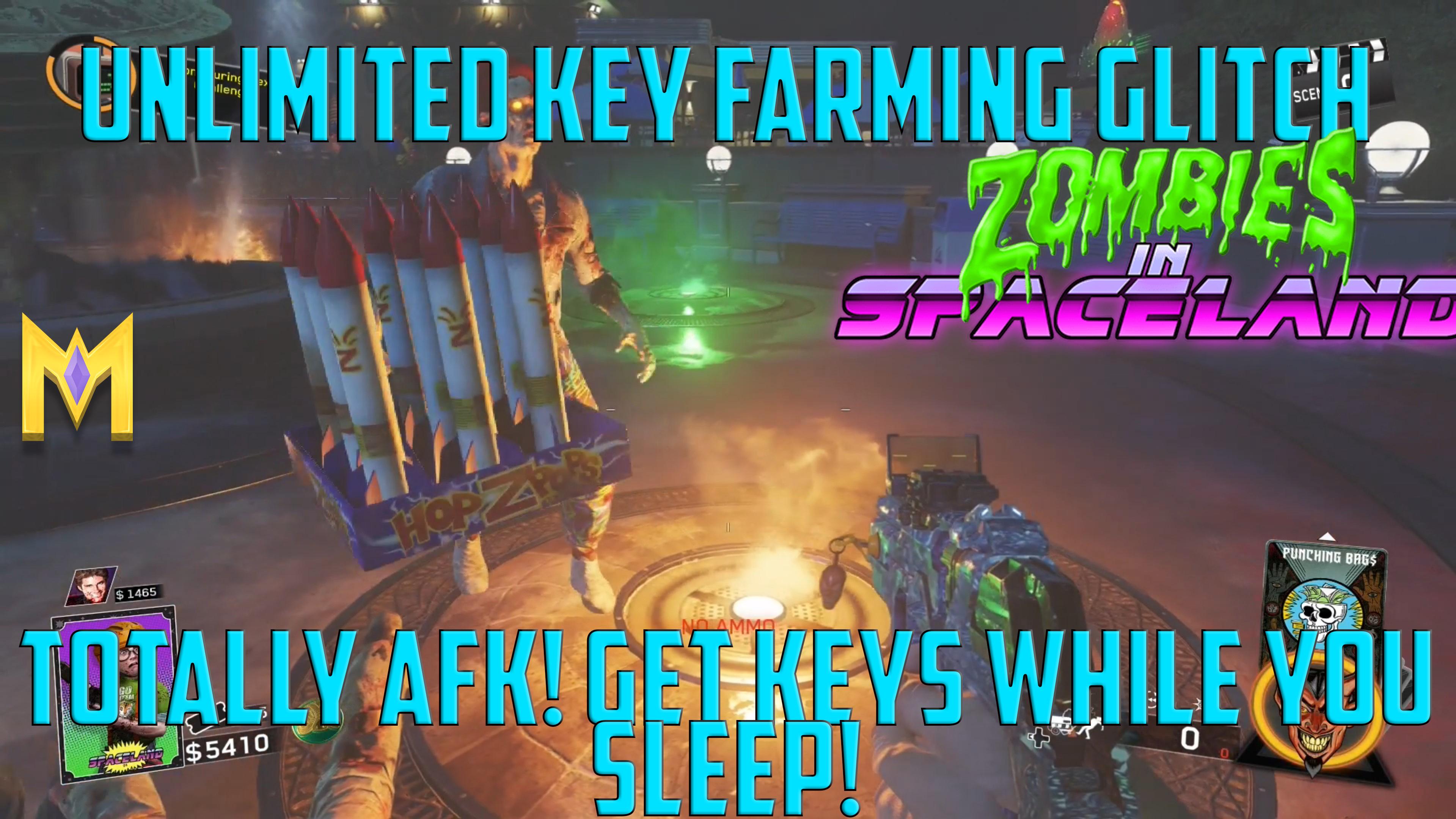 Zombies In Spaceland Glitches – Unlimited Key Farming Glitch – AFK Farming Method