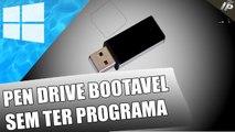 Fazer um pen drive bootavel ( sem programa ) - Windows ou Linux   The Impossible Possible