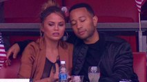Chrissy Teigen Suffers Wardrobe Malfunction at the Super Bowl