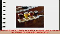 Lilys Home Beer Tasting Set Beer Flight 4 Beer Glasses on a Wooden Tray aa5e561d