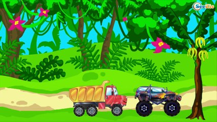 The Fire Truck Cartoon. Story about fire in the desert   Cartoons for kids 25 Episode