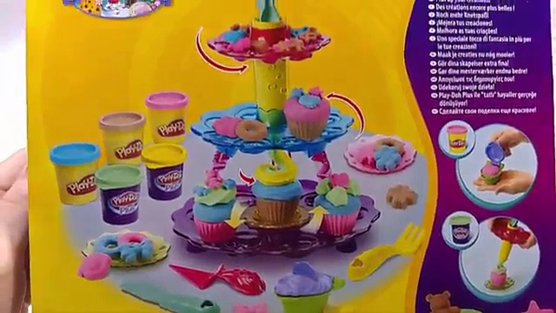 Play Doh How to Make a Cupcake Tower. Плей До Башня Пирожных. Easy Playdough Recipe Video. DIY.