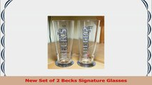 Becks 04 Liter Signature Beer Glass  Set of 2 Glasses d1d691c8