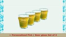 Personalized English Pub Beer Glasses Set of 4 Pub 10oz 4b57b2dd