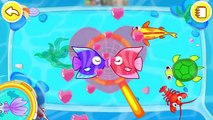 Baby Panda Happy Fishing | Explore The Sea & Learn About Sea Animals | Babybus Fun Game for kids