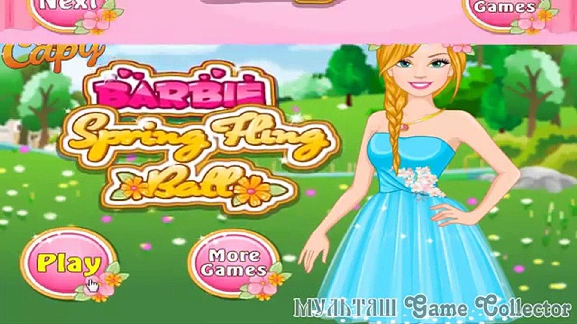 Barbie Spring Fling Ball Full Episode | Барби приготовления на Весений Б