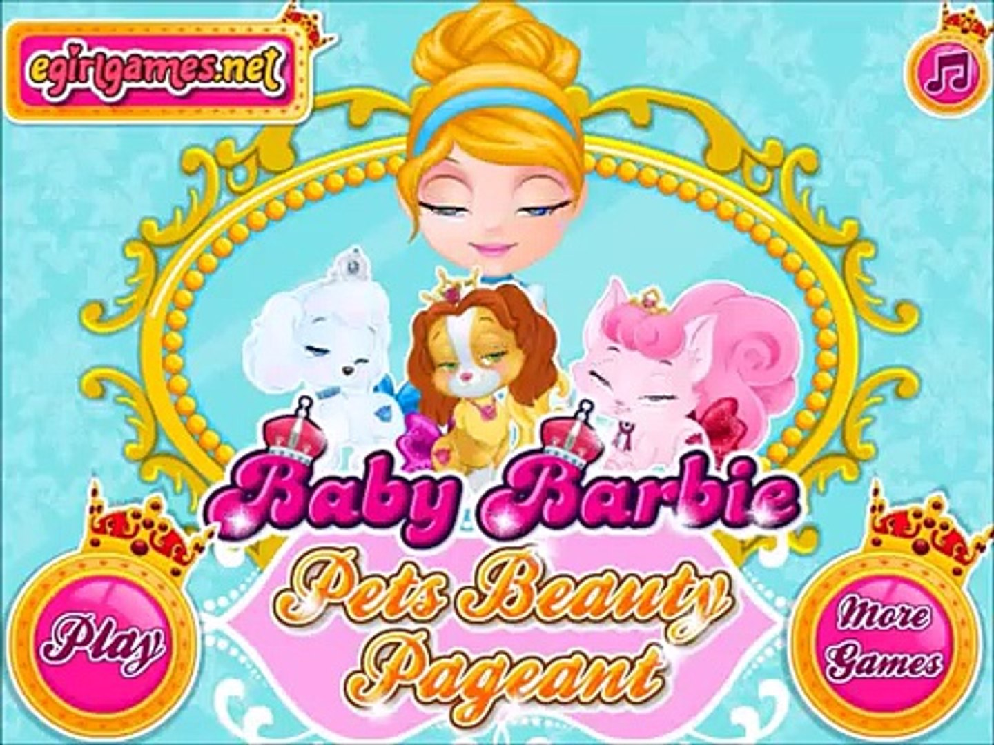 Join BABY Barbie in Pets Beauty Pageant Movie Episode New Baby Games Online