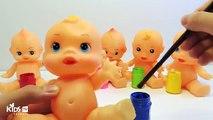 Узнать цвета для детей с Кукла бодиарт Finger семья потешки цвета