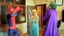 Joker Loses His Face! - Spiderman vs Joker vs Venom vs Frozen Elsa Cinderella Shark - Fun Superhero