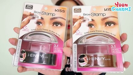 [Would this Really Work?] Stamp! and get pretty eyebrow in 1 second? Kiss Eyebrow Stamp