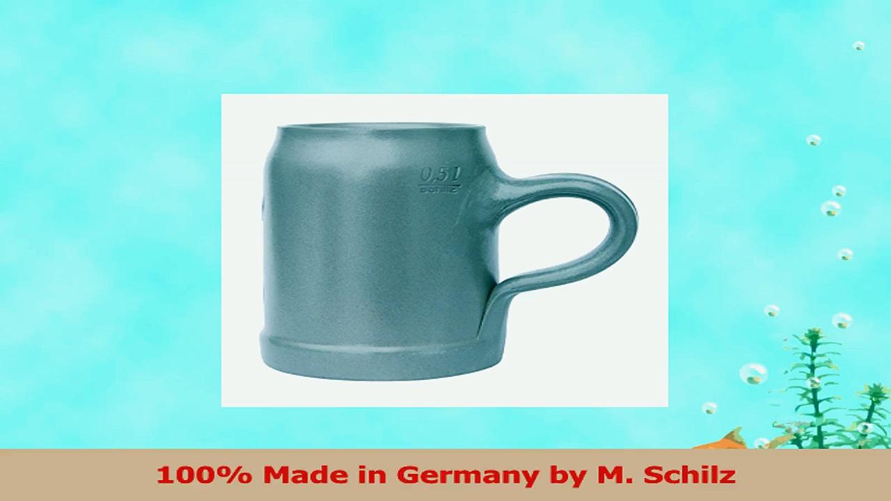 Hofbrauhaus Munich Munchen HB Logo Salt Glazed German Beer Mug 05 Liter 0187dd51