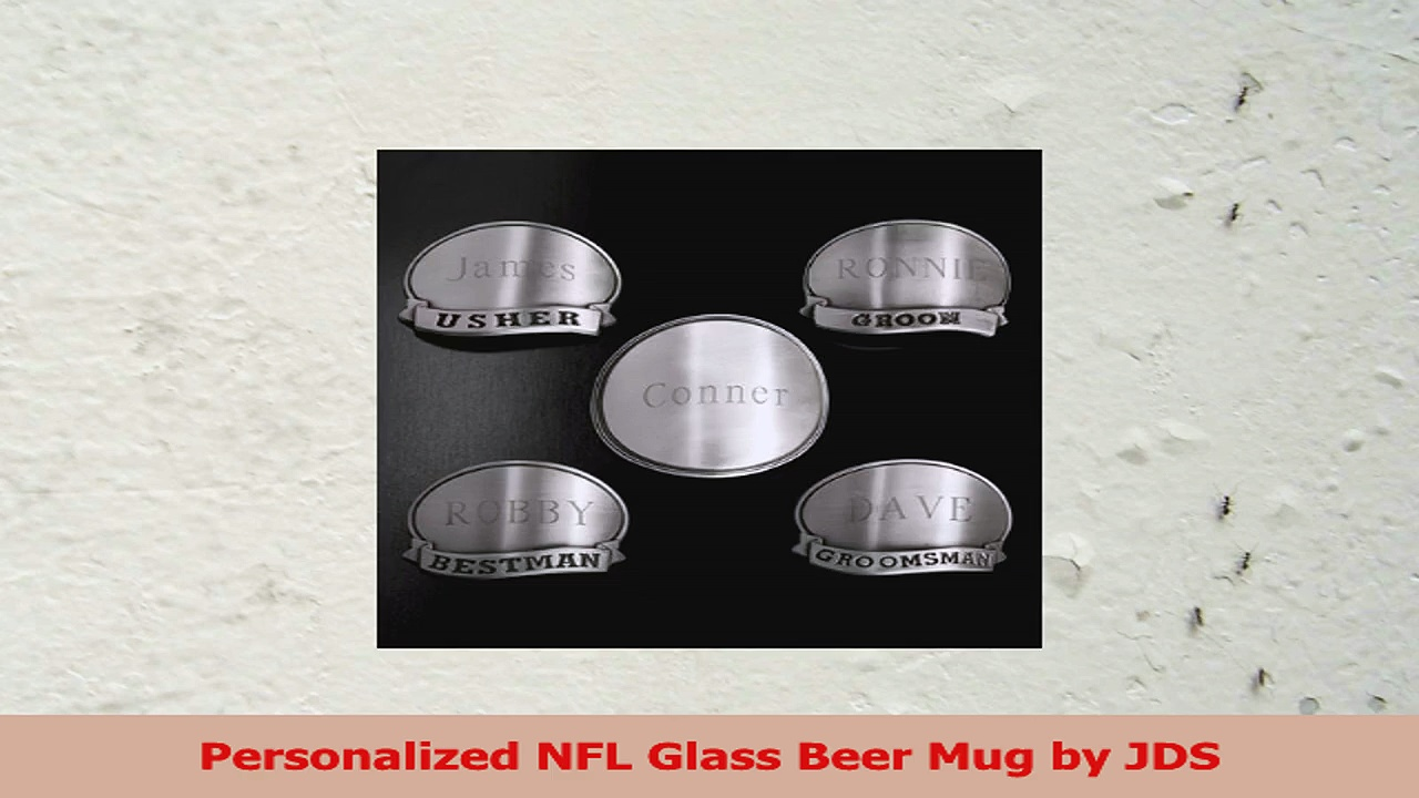 Personalized NFL Glass Beer Mug by JDS b2456888