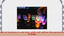 YANX 6 Pack LED Wine Champagne Flutes Light Up Glasses Flashing Cups LED Liquid Activated f226b1c8