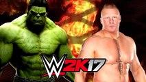 Hulk vs Brock Lesnar - WWE 2K16।। WWE GAMES
