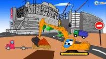 ✔ Ekskavatörün maceraları çocuklar için / Arabalar hakkında çizgi filmlerinin koleksyonu / Bölüm 4