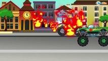 ✔ Arabalar cizgi filmleri izle. Monster Truck, İtfaiye arabası, Ambulans. Eğitici çizgi filmler ✔
