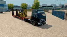 Euro Truck Simulator 2 Gameplay #16 Digger 500 Transport to Hannover Volvo FH16 Truck
