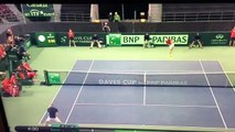 Denis Shapovalov disqualified for HITTING umpire in face!!! - TENNIS DAVIS CUP