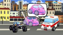 ✔ İtfaiye arabasının maceraları / Arabalar hakkında çizgi filmlerinin koleksyonu - Bölüm 2 ✔